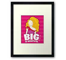 Girl With Big Hair_2 Framed Print