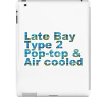 Late Bay Type 2 Pop Air Westfalia Plaid iPad Case/Skin