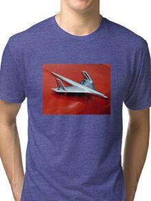 1955 Chevy Belair Hood Ornament Tri-blend T-Shirt