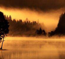 Loch Ard morning mist by David Mould