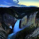 Last Light at Yellowstone by Terence Russell