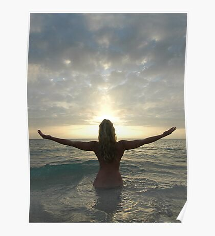 Sea, Sun, and Spirit, a Photograph by Chris Maher #4008 Poster