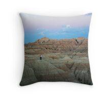 Badlands dusk Throw Pillow