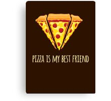 Diamond Pizza Canvas Print