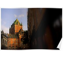 Golden Light- Chateau Frontenac Poster