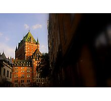 Golden Light- Chateau Frontenac Photographic Print