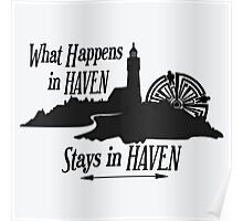 What Happens In Haven Lighthouse Black Logo Poster