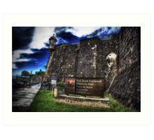 Paseo del Morro, Old San Juan, Puerto Rico Art Print
