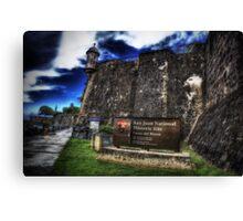 Paseo del Morro, Old San Juan, Puerto Rico Canvas Print
