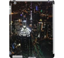 Jin Mao Tower at Night from Above - Shanghai iPad Case/Skin