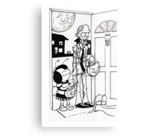 Zombie Trick or Treat  Metal Print