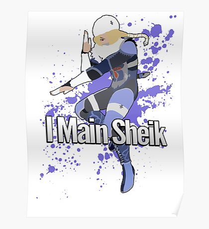 I Main Sheik - Super Smash Bros. Poster