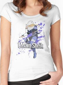 I Main Sheik - Super Smash Bros. Women's Fitted Scoop T-Shirt