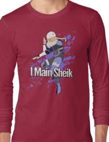 I Main Sheik - Super Smash Bros. Long Sleeve T-Shirt