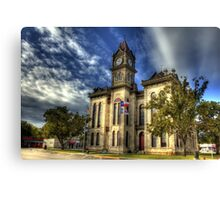 Bosque County Courthouse Canvas Print