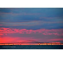 Inlet Bridge View | Fire Island, New York  Photographic Print