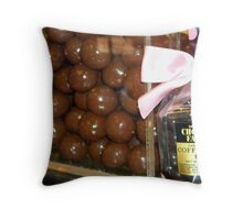 An Adult in The Candy Store Throw Pillow