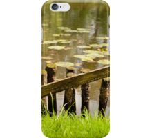 Old broken wooden fence iPhone Case/Skin