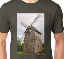 old wood windmill with sails Unisex T-Shirt