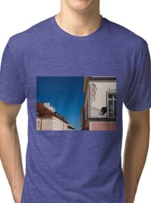 Architecture detail cracked house Tri-blend T-Shirt