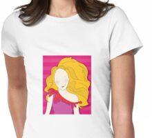 Girl With Big Hair Womens Fitted T-Shirt