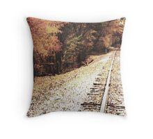 Autumn Tracks 2 Throw Pillow