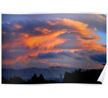 Yakima sunset Poster