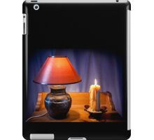 night light lamp and burning candle iPad Case/Skin
