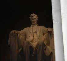 Abe Watches Over... by Justine Kenney