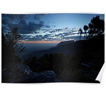 Sunset over Bluff Knoll Poster