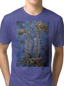 Chestnut blossom and Turtles  Tri-blend T-Shirt