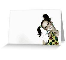 Portrait of Meg Greeting Card