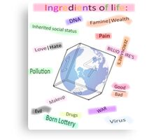 Ingredients of life, bitter sweet Canvas Print