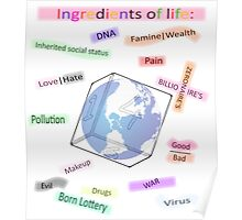 Ingredients of life, bitter sweet Poster