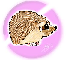 Adorable baby Hedgehog by steelartstudios