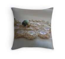 Wedding gown motiff Throw Pillow