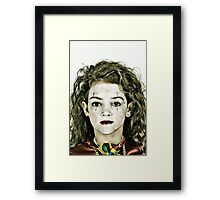 Portrait of Zoe Framed Print