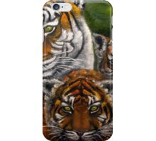 Tigers Family oil painting iPhone Case/Skin