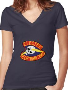 Electric Eliminators - The Warriors  Women's Fitted V-Neck T-Shirt