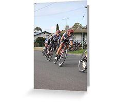 Cyclists Racing, Tour of Geelong Greeting Card