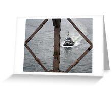 East River Tug Greeting Card