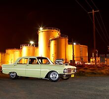 Yellow Supercharged Ford Falcon XP by John Jovic