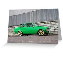 Green Mazda R100 Greeting Card