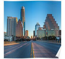 Austin sunrise on Congress Poster