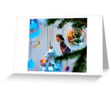 Christmas Tree with Girl Greeting Card