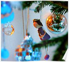 Christmas Tree with Girl Poster