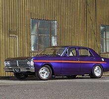 Purple Ford Falcon XY by John Jovic