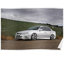 Silver VX Commodore Poster