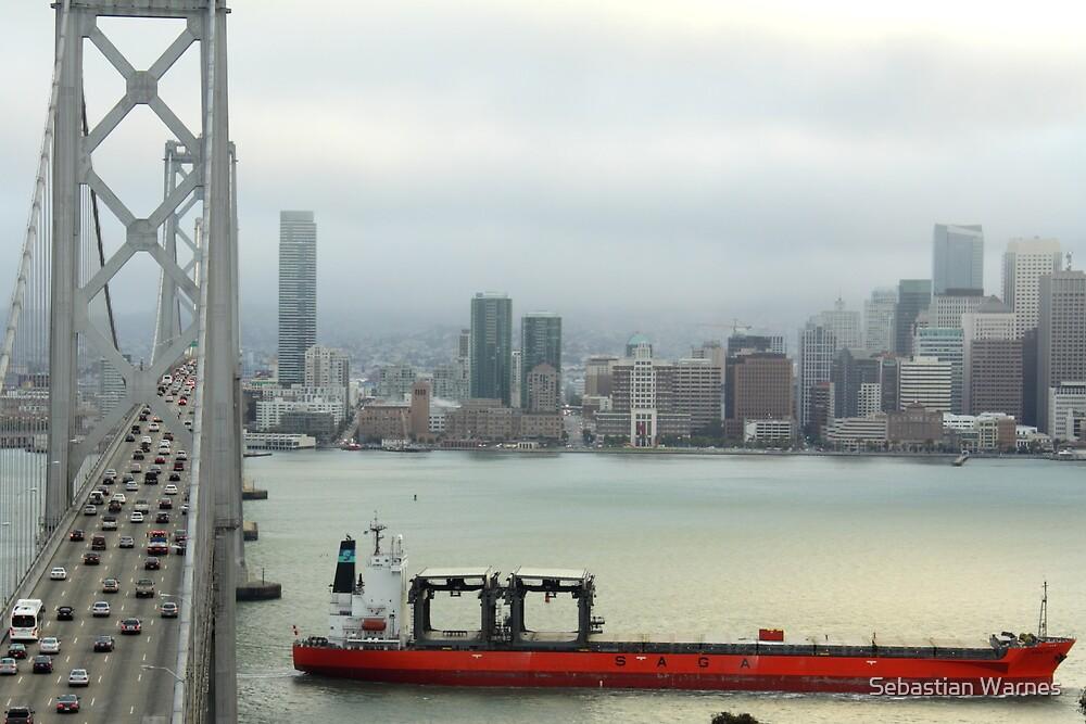 San Francisco Bay Bridge (Saga Boat) by Sebastian Warnes