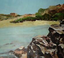 Beach, ghajn Tuffieha by RayGrillo